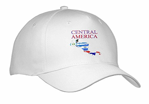 - Florene Maps In Exotic Outline - Image of Central America Outline with Countries Symbols - Caps - Adult Baseball Cap (cap_240736_1)