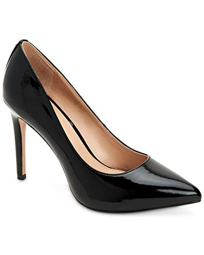 Crinkle Leather Heels - BCBGeneration Women's Heidi Leather Pump, Black Crinkle Patent, 8 M