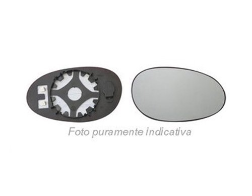 Sinistro Piano Solo Vetro con Biadesivo Specchio Retrovisore specchietto esterno Cromato