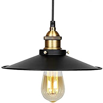 Lámpara de techo Vintage Retro Edison Loft – Plafón industrial retro con pantalla en hierro pintado con un casquillo E27: Amazon.es: Iluminación