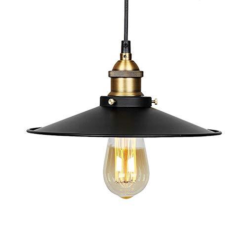 Lámpara de techo Vintage Retro Edison Loft – Plafón industrial retro con pantalla en hierro pintado con un casquillo E27