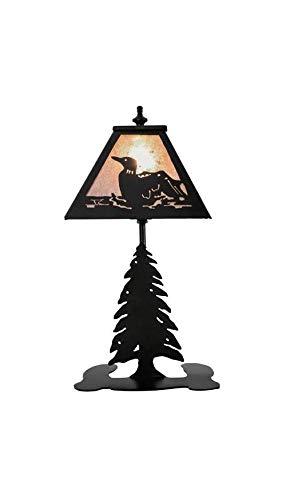 Meyda Tiffany 67222 Loon Accent Lamp, 15'' Height