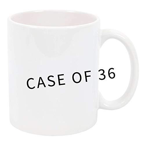 11 oz Sublimation Mugs Case of 36 Ceramic Blank Mugs by High Tide Mugs (Image #1)