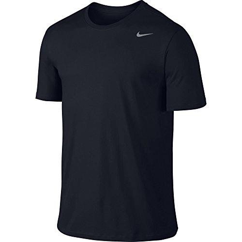 NIKE Men's Dri-FIT Cotton 2.0 Tee, Obsidian/Obsidian/Matte Silver, Small (Shirt Training)