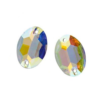 SWAROVSKI 3210 Sew On FlatBack OVAL Crystal AB 10X7mm by 6pcs by Swarovski