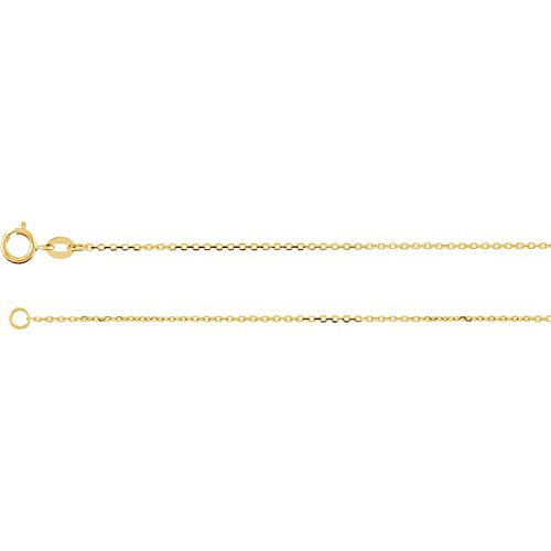 """14K Yellow 1mm Diamond Cut Cable 20"""" Chain from Stuller"""