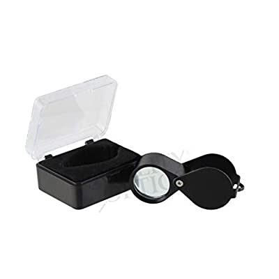 Quality Optics USA Folding Jewelers Loupe Pocket Magnifier (10X Economy Black Loupe): Office Products