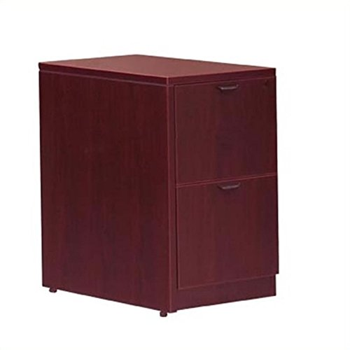 er Vertical Wood File Pedestal with Lock - American Mahogany (Mahogany Vertical File Cabinet)