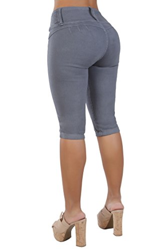 Double Knit A-line - Curvify Women's Butt-Lifting Jeans Capris | High-Rise Waist 764 (5 fits a 28