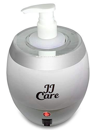 [PREMIUM] Massage Oil Bottle Warmer, Lotion Warmer 300ml, Oil Warmer for Massage, Heated Oil, Lotion and Cream Dispenser for Salon, Barber Shops, Electric Oil Warmer, Spa Lotion Warmer - White
