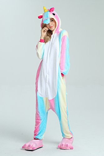 Taiyi Homewear Childrens Unicorn Plush One Piece Onesie Cosplay Animal Costume (12Yrs(height 59''-63''/150cm-160cm), Rainbow Flying Horse) by Taiyi (Image #7)