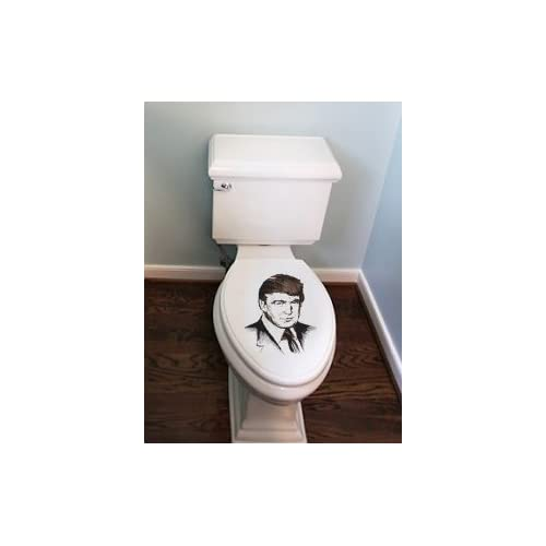 Donald Trump Toilet Seat To Go With Your Toilet Paper, Engraved Custom Wooden Toilet Seat Cover For Republican And Democats cheap