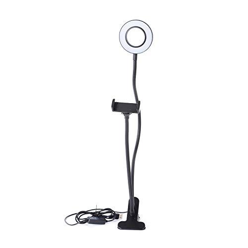 Shop LC Delivering Joy Selfie Stick Fluorescent Ring Light Flexible Cell Mobile Phone Holder Stand 2 in 1 Live Stream Makeup 3 Light Mode 26.5x4