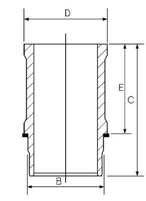 Goetze Engine 14-636470-00 Cylinder Liner AutoMotion Factors Limited