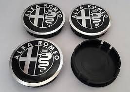Tapacubos de llanta de aleación de Alfa Romeo, estilo negro, 60 mm
