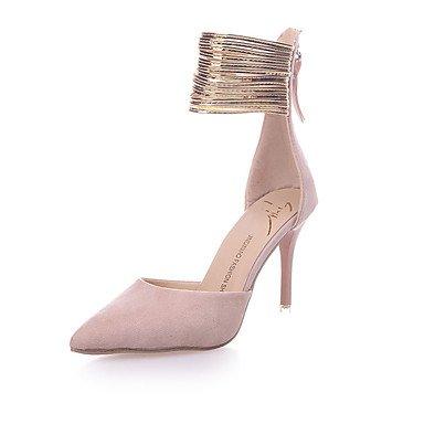 Party blushing Schuhe Reißverschluss Festivität Kleid amp; Club Schuhe Heels Normal Sommer Damen ggx pink StöckelabsatzSchwarz LvYuan Vlies Frühling Club PU High wxq7Hn6TX