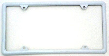 amazoncom white slimline metal license plate frame automotive - White License Plate Frame