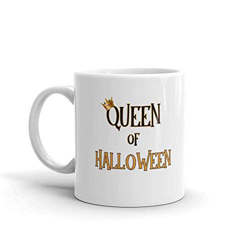 Queen of Halloween Funny Novelty Humor 11oz White Ceramic Glass Coffee Tea Mug Cup