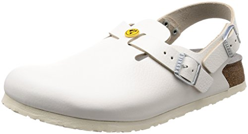 Birkenstock womens Tokyo in White from Leather Clogs 39.0 EU N