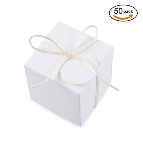 x2 inch for Candy Treat Gift Wrap Box Party Favor 50pc by MOWO (Gift Wrap Box)