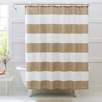 Better Homes and Gardens Porter Stripe Fabric Shower Curtain, 72