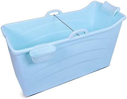 折りたたみ風呂TubAdultポータブル保冷バスタブ、インフレータブルバスタブ、ストレートレッグバスタブ折りたたみ拡張しました (Color : Blue, Size : A)