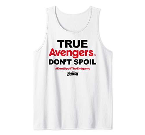 Marvel Avengers Endgame True Avengers Don't Spoil  Tank Top