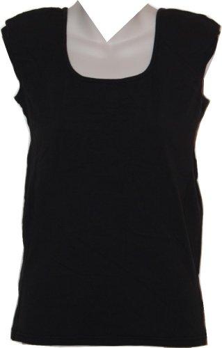 Kathleen Kirkwood Shoulder Padded Cami with Seam Detail (medium, black)