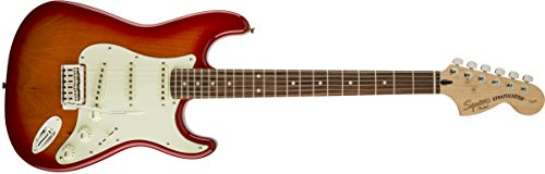 602509 Standard Stratocaster Electric Guitar - Candy Apple Red - Maple Fingerboard (Electric Guitar Satin Cherry)