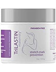 TriLASTIN Maternity Stretch Mark Prevention Cream, Unscented, 4 fl oz. - Hypoallergenic, Paraben-Free Formula