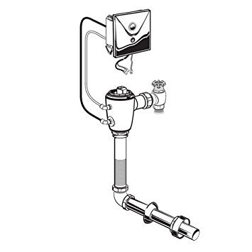 American Standard 6068.261.007 Concealed Selectronic 1-1/2-Inch Floormount Back Spud Toilet Bowl Flush Valve, Multi-AC Powered, 1.6 Gpf, Rough Brass