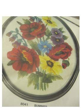 - Vintage American Family Crafts Crewel Embroidery Kit Summer Floral 8 x 10
