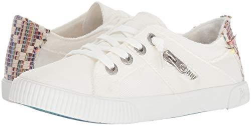 Blowfish Malibu Women's Fruit Sneaker, White Smoked oz Canvas, 6.5 M US