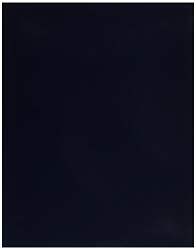Oxford 51743 Esselte Penda Flex School Smart 2 Pockets Laminated Portfolio without Fasteners, 100 Sheets, Navy (Pack of 25) (Laminated Twin Pocket Portfolios)