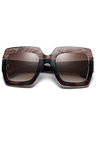 Gafas Rectangulares Las Moda De 3 Los Mujeres Negro O Sol Para UV400 Hombres Igq5qwA