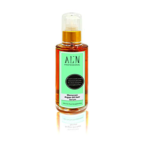 Alin Professional Moroccan Argan Oil Hair Serum Leave-In Hydrating Oil Treatment for regular to damaged hair. For lasting post-straightened results