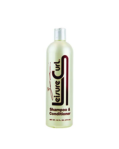 (Leisure Curl Relaxing 2-In-1 Shampoo & Conditioner Treatment 16 fl oz, Curly or Straight Hair Restoration Treatment - Signature Series-Good for Men,Women & Kids)
