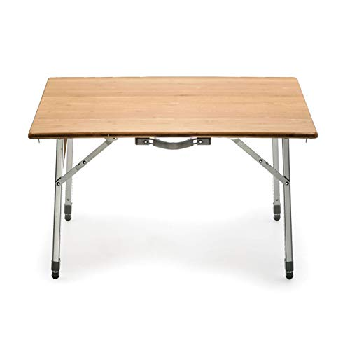 Camco 51893 Bamboo Folding Table Adjustable (Best Value Wood Router)
