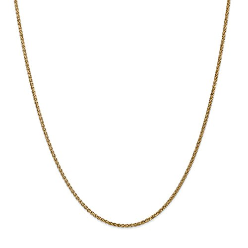 - 14k Yellow Gold 1mm Spiga (Wheat) Chain 30 inch Necklace 3.16g