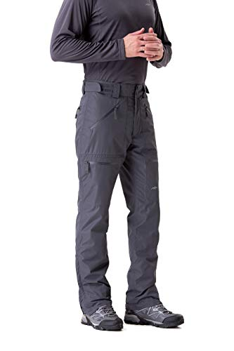 Trailside Supply Co.Men's Insulated Ski Pant Fleece-Lined Waterproof Snow Pants (Grey,S)
