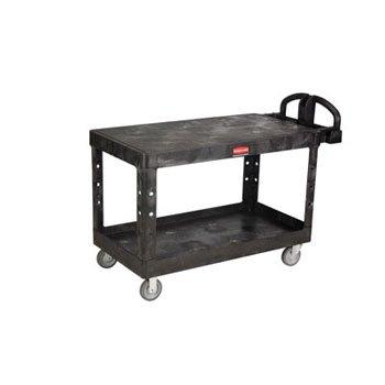 Bla 2 Shelf Utility Cart (Rubbermaid Commercial Heavy-Duty Utility Cart, 500-lb Cap., 2 Shelves, 25 1/4 x 54 x 36, Black - cart.)