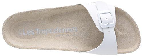 Les Tropéziennes par M. Belarbi Pornic - Zuecos de material sintético para mujer Blanco - Blanc (Blanc Mat)