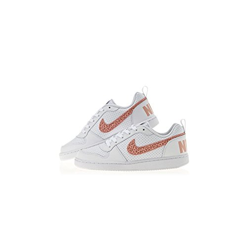 Donna Bianco Basket Court da Scarpe Low rosa NIKE GS Borough Fxg0TA