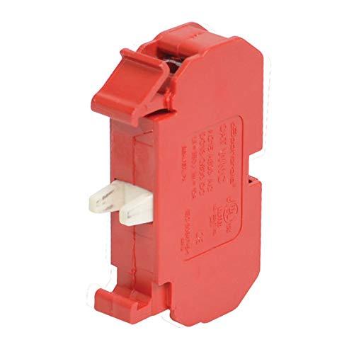 (C3 CONTROLS WNC Contact Block, NC, 10AMP, 600VAC, RED)