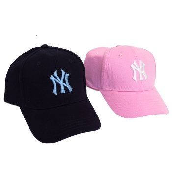 Ladies Mens Unisex Blue or Pink NY New York Yankees Baseball Cap Peak Hat   Amazon.co.uk  Clothing a5d5802545c