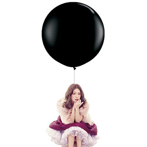 36 Inch Big Round Balloons 5 Pack Black