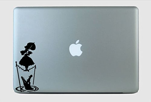 The Haunted Mansion Parasol Girl Inspired Vinyl Decal Sticker White ()