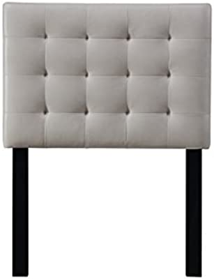 Pulaski DS-D020-230-439 Square Tufted Upholstered Headboard, Twin, Taupe