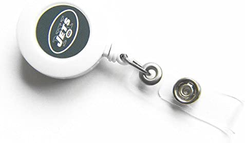 9ae52b0923 Amazon.com : Brand New New York Jets Retractable Badge Reel Id Ticket Clip  : Office Products