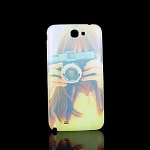WQQ la cubierta del patrón retrato fo Samsung Galaxy Note 2 N7100 caso
